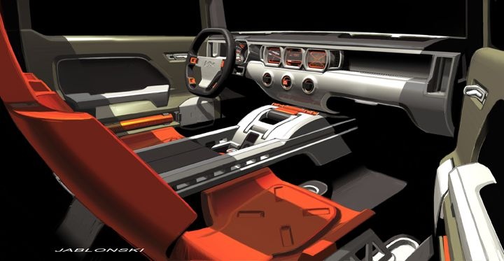 Hummer H4 Inside >> Hummer Interior Google Search Car Interiors Sketch Pinterest