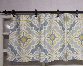 Valances On Etsy A Global Handmade And Vintage Marketplace Yellow Kitchen Curtains Yellow And Grey Curtains Kitchen Curtains And Valances