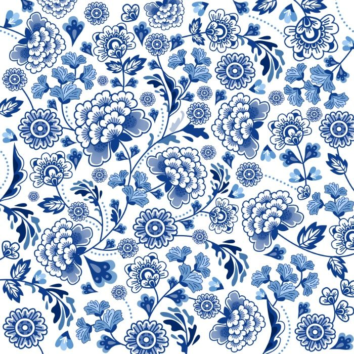 Porcelain Chinese Pattern Blue