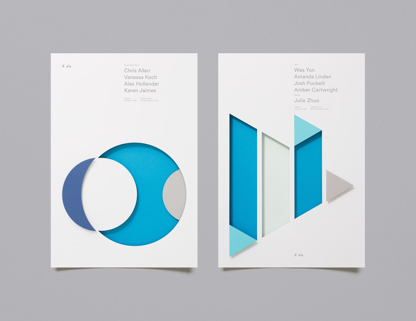 Designer Fund Bridge Speaker Series Posters On Behance Disenos De Unas Diseno De Folletos Portadas De Libros