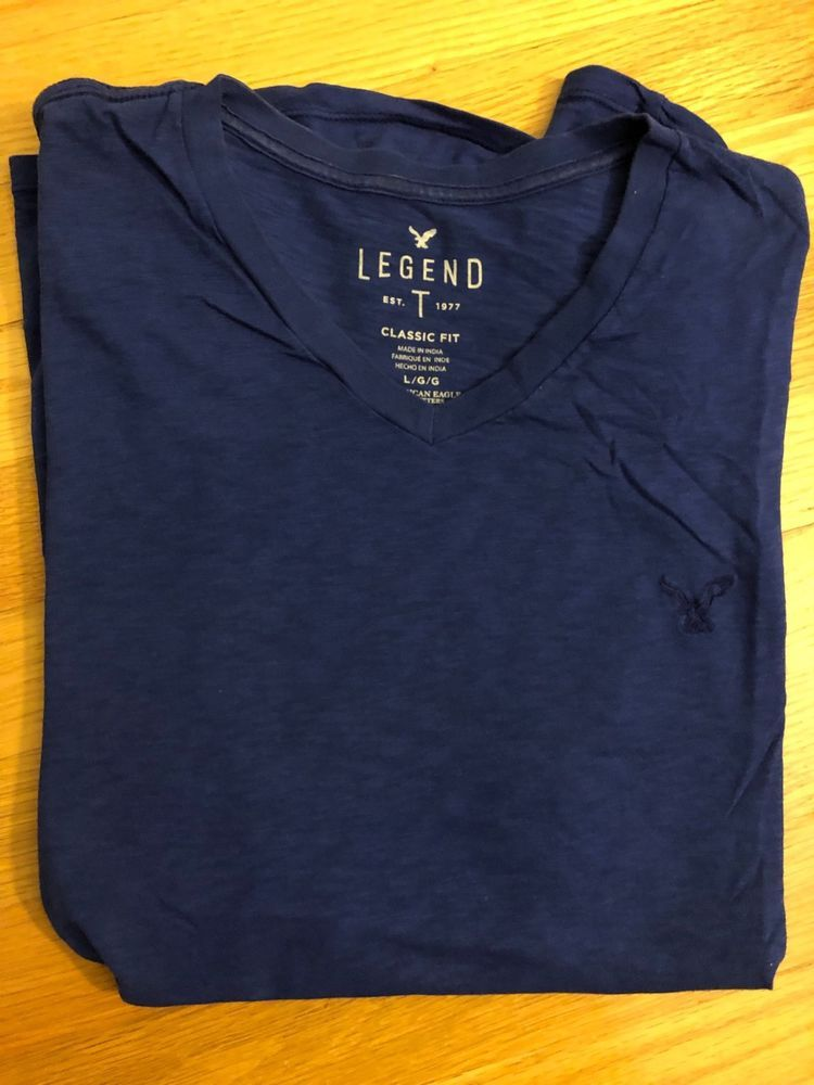 American Eagle LEGEND V Neck T shirt Blue LGG Classic Fit