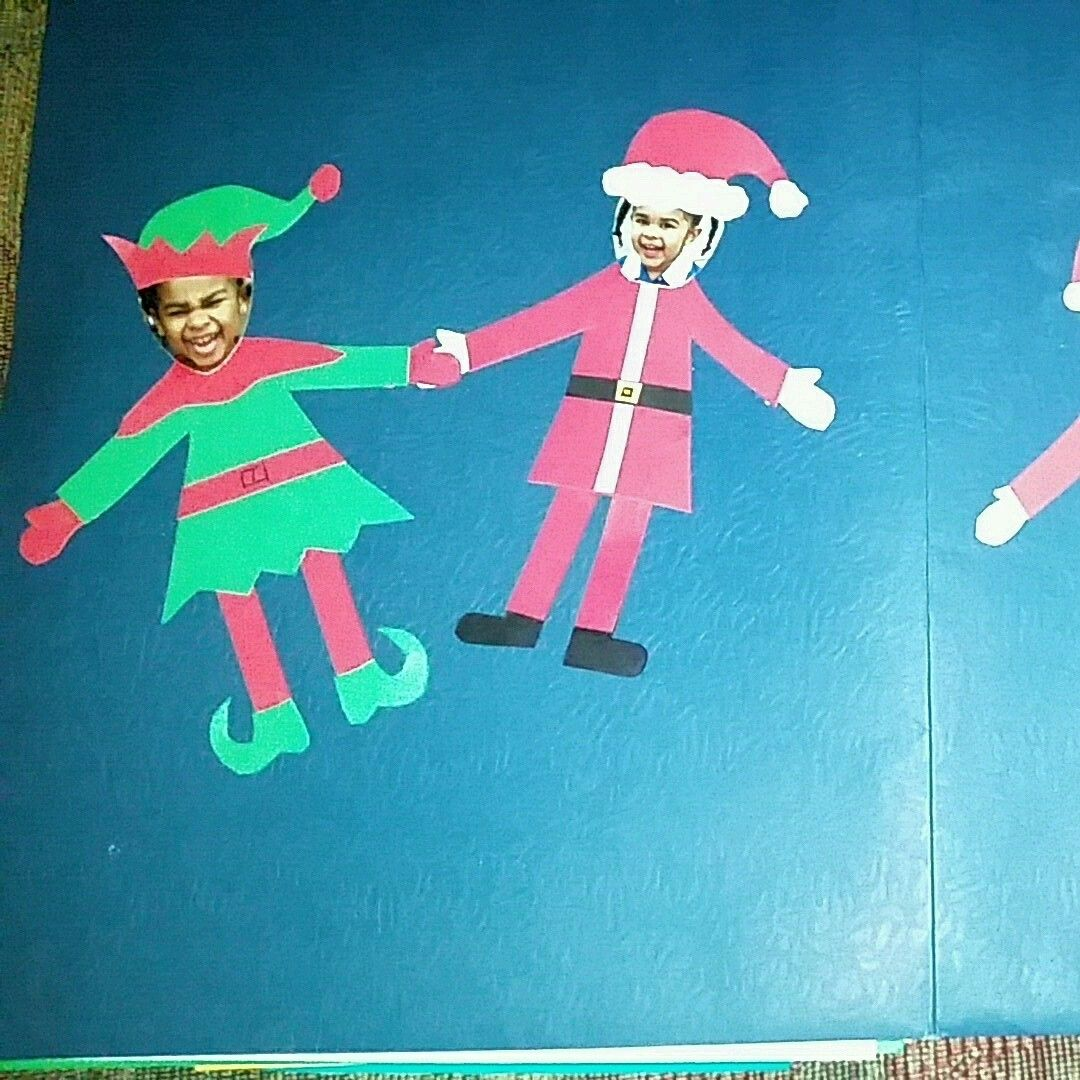 Cutout From Construction Paper Added My Girls Faces Glued