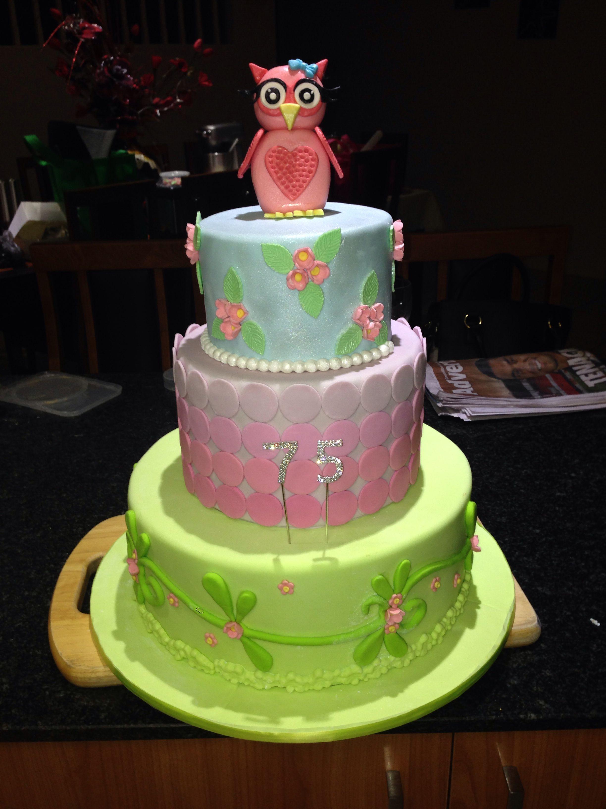 Finally I Can Post Phylls Birthday Cake Happy 75th Phyllie Love Ya