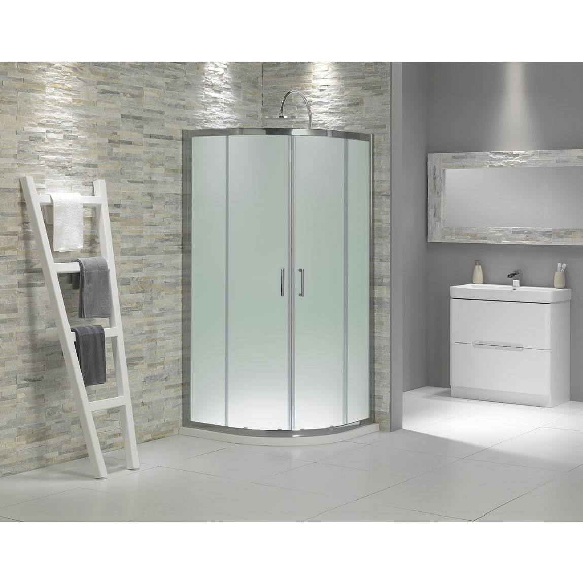 glass showers | Buy Frosted Glass Quadrant Shower Enclosure 900 in ...