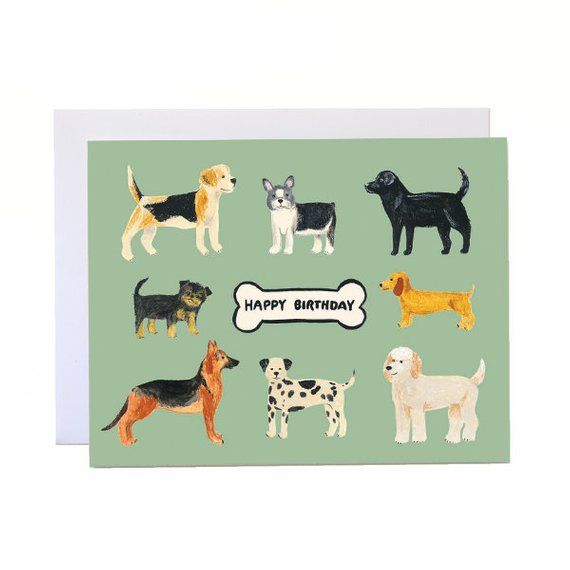 Birthday Dogs Dog Card Lover Gift Puppy For Canine