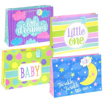 The Fastest Easiest Way To Give Baby Gifts Extra Large Gift Bags Are Perfect For Gifting And Odd Shaped Items Assorted Among 4 Diffe