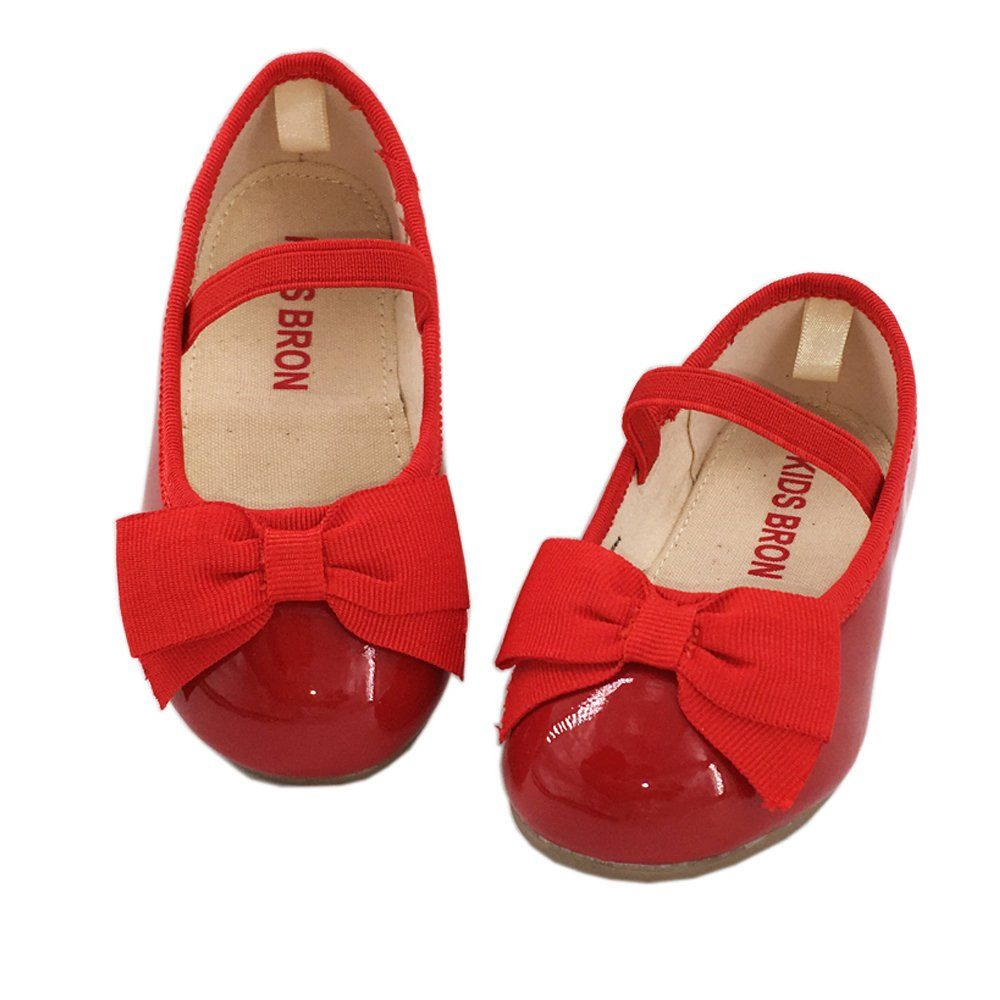 53bba178641 Kids Bron Bridal Black Red Ballet Flats Mary Jane School Shoes  (toddler little girls) (8 M US Toddler