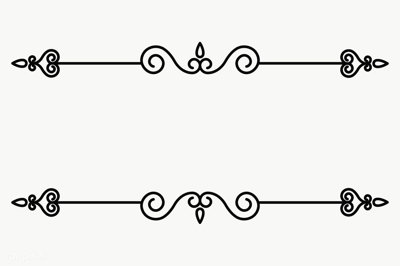 Vintage Line Frame Transparent Png Free Image By Rawpixel Com Aew Stock Images Free Free Hand Drawing Png