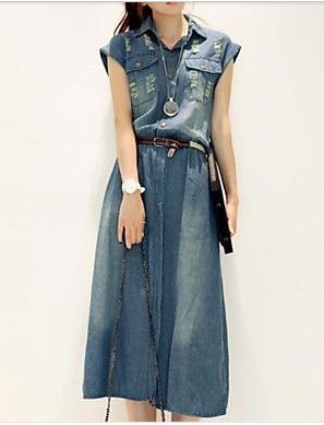 3e61a02788 denim...so cute Short Sleeve Denim Dress