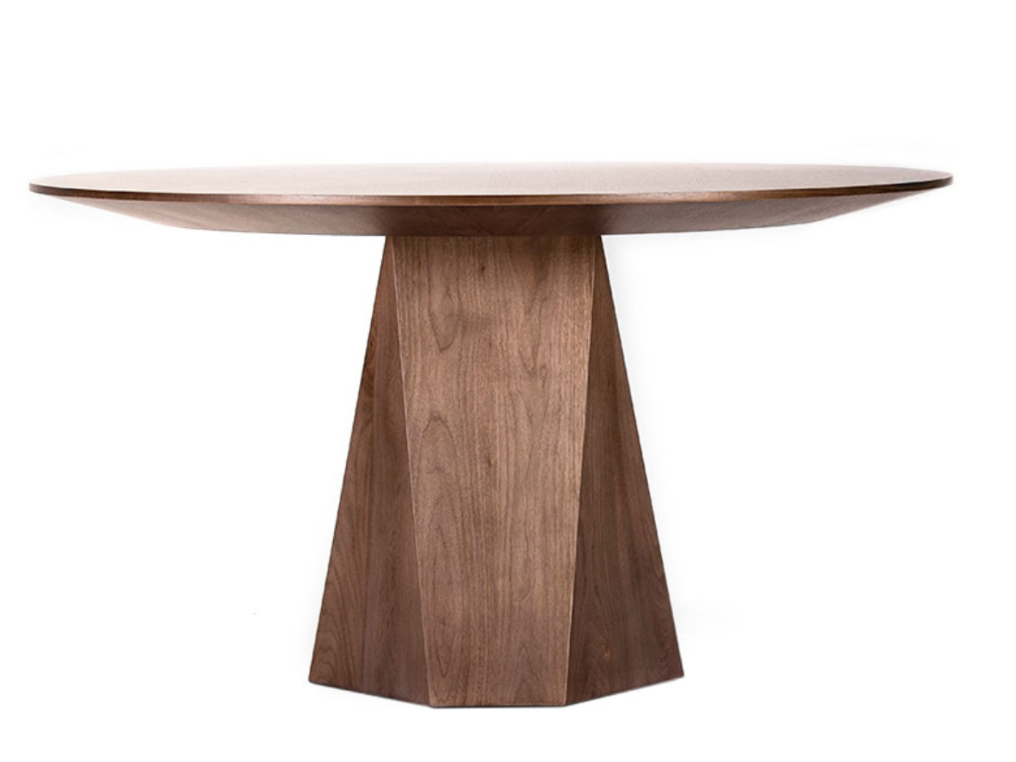 Malaga Dining Table Round Dining Table Modern Midcentury Modern