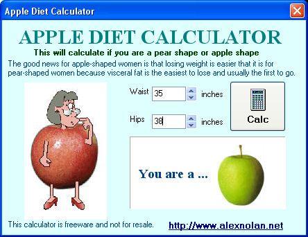 apple body shape diet | Apple diet calculator | apple body
