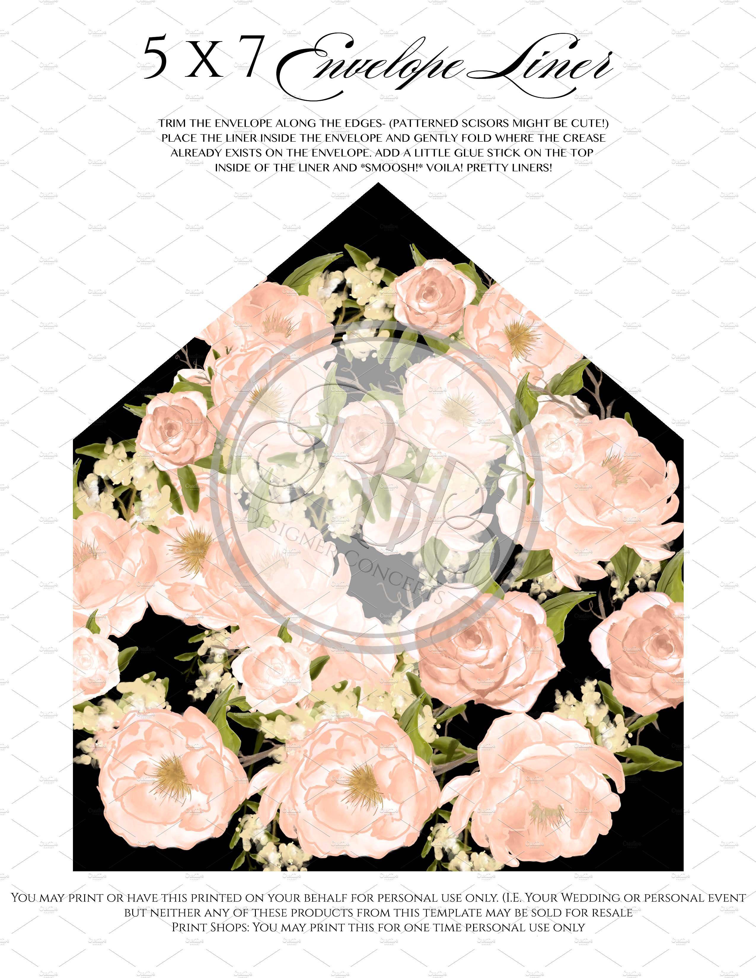 Peach Peonies Wedding Invite Peonies Wedding Invitation
