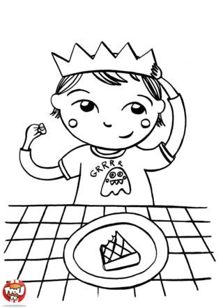 Le petit roi coloriages vie quotidienne tfou ecole galette couronne roi ch teau - Coloriage de galette des rois ...