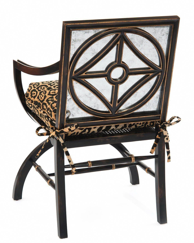 Charmant John Richard Collection Macayla Mirrored Leopard Print Armchair  #leopardchair