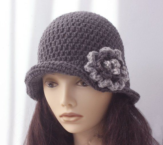 08ab3098e8a Crochet Gray Women s Hat