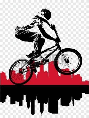 Bmx Vector Of Bmx Cyclist In 2019 Bmx Bmx Bikes Bmx Bicycle