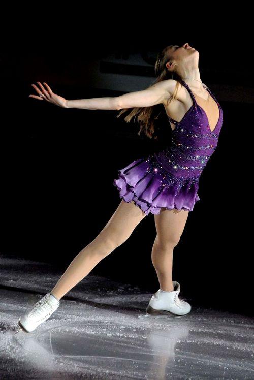 Carolina Kostner -Purple Figure Skating / Ice Skating dress inspiration for Sk8 Gr8 Designs.