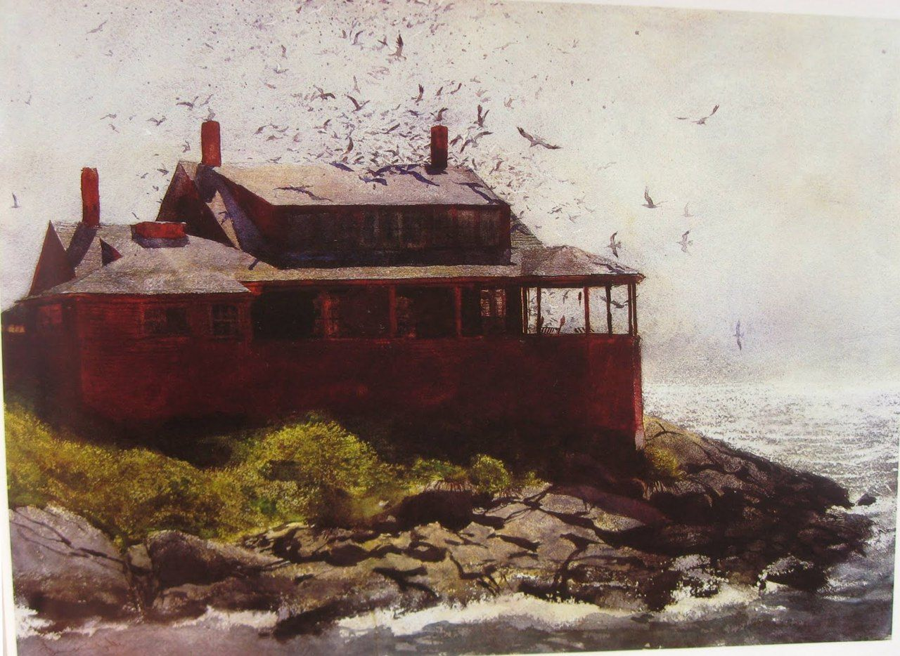 Andrew Wyeth Painting Red House On Monhegan In Maine Jamie