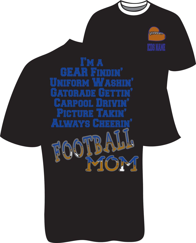 Bling Football Mom Tshirt