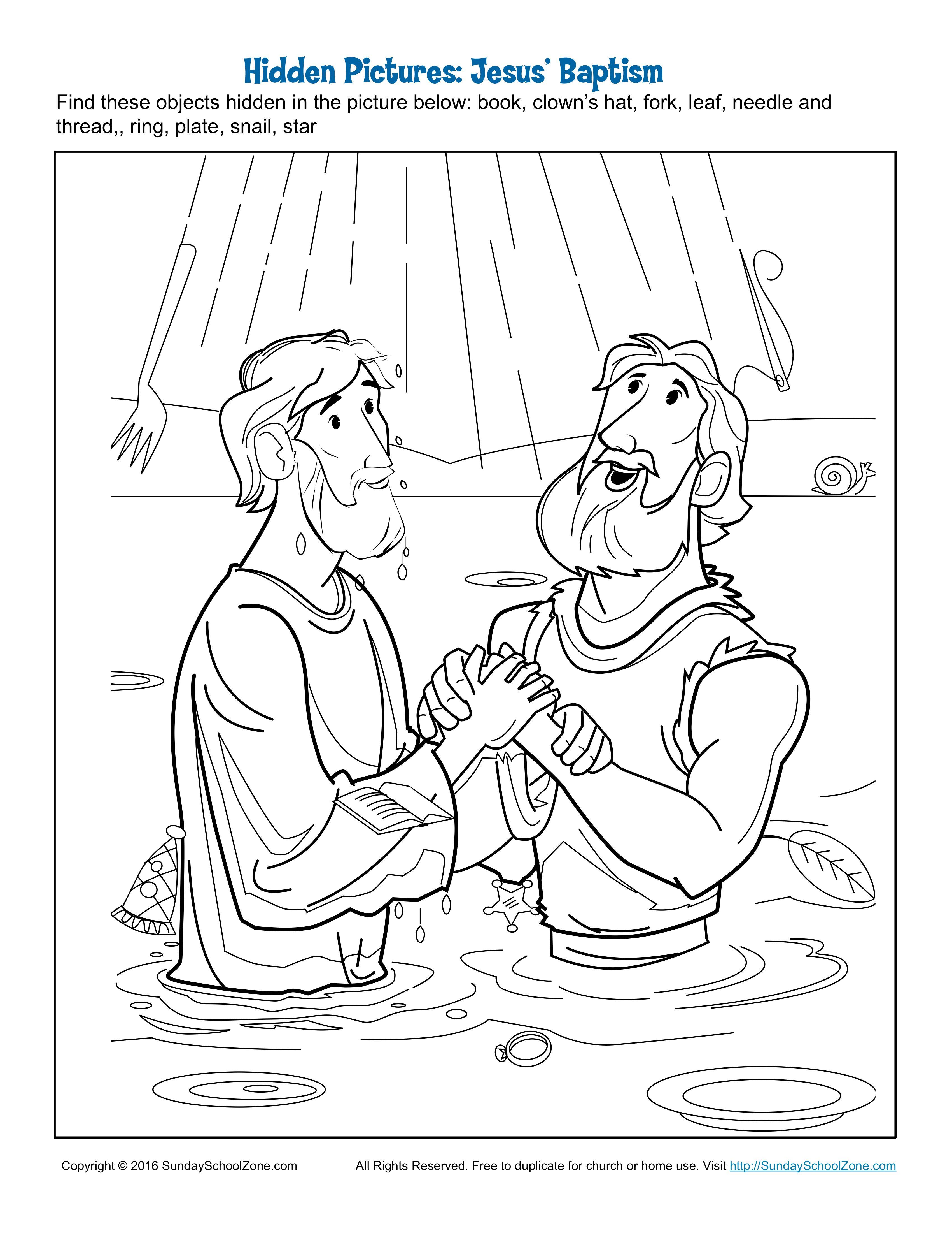 Jesus Baptism Hidden Pictures