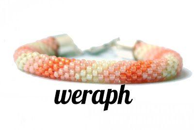 Beads tudzież: Designs cords crochet-koralikowych
