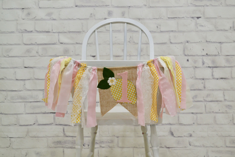 Girl Birthday Banner, 1st Birthday banner, Lemonade 1st birthday banner, pink lemonade birthday, 1st Birthday cake smash, girl cake smash
