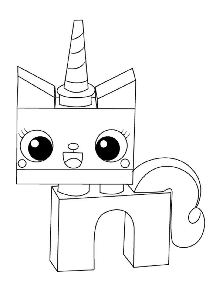 Kids Coloring Pages Unikitty In 2020 Lego Movie Coloring Pages