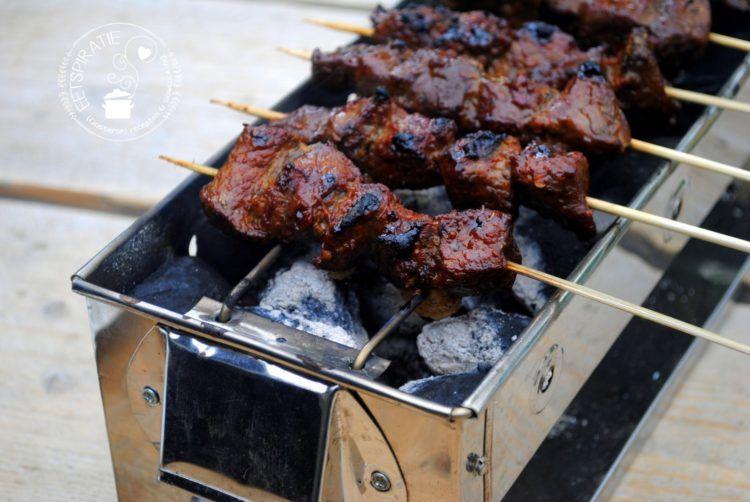 Saté van de saté barbecue   Eetspiratie