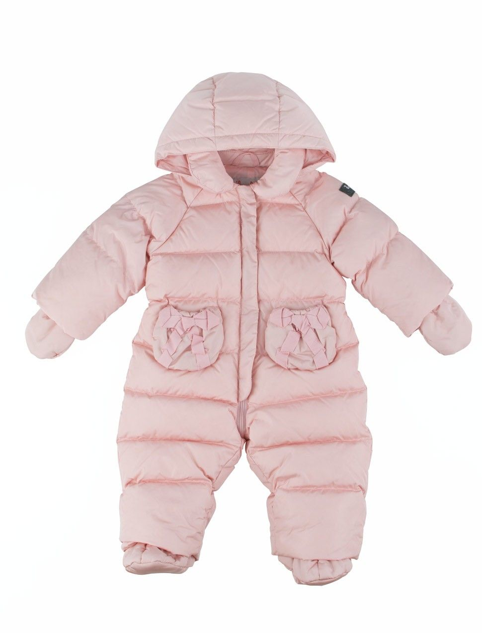 7459d21b3 Down-filled wadded pink baby girl snowsuit from Il Gufo