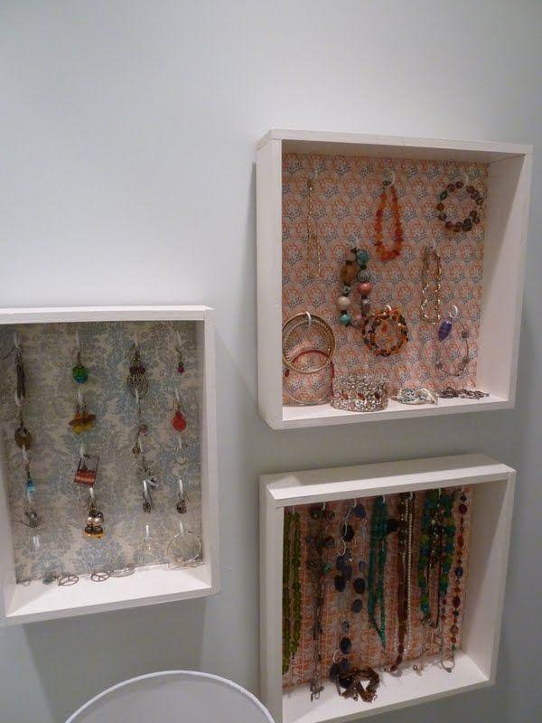 Jewelry shadow box displays DIY Creative Recreation
