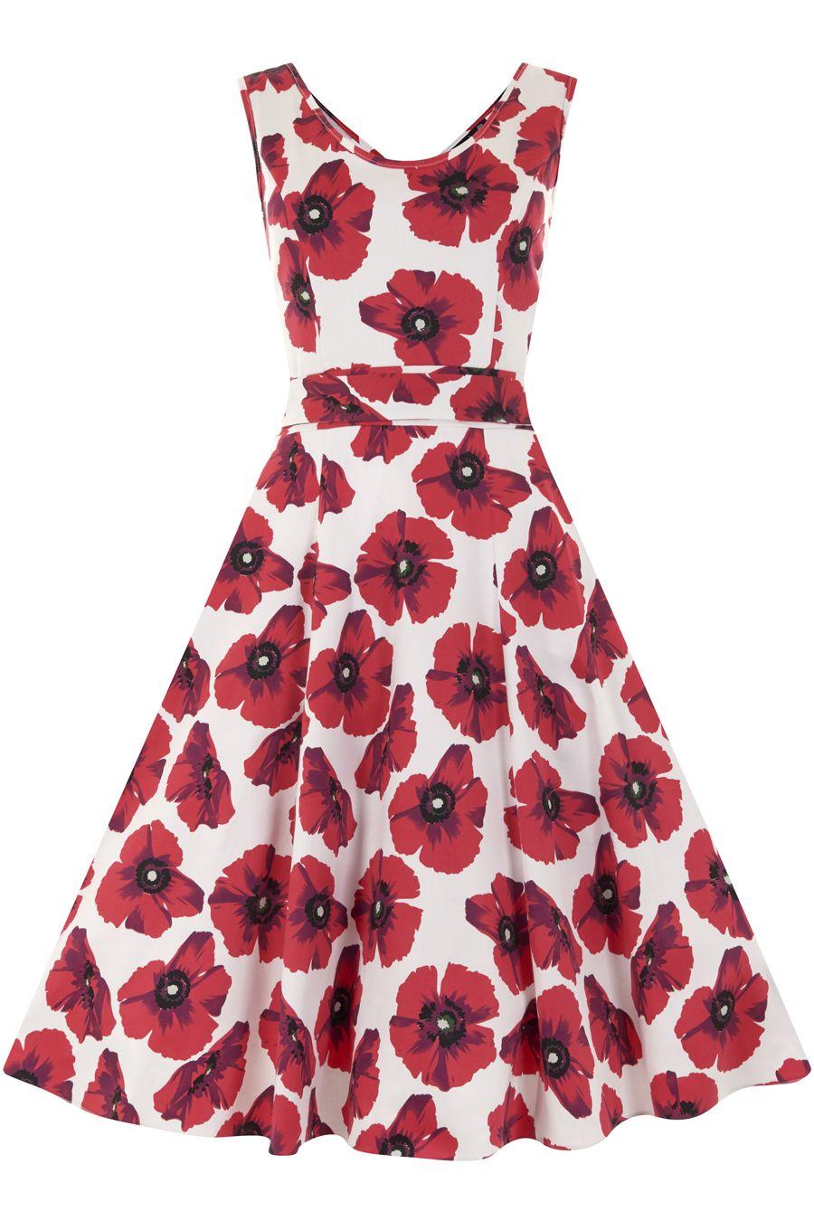 Red Poppy Floral Charlotte Dress | Pinterest