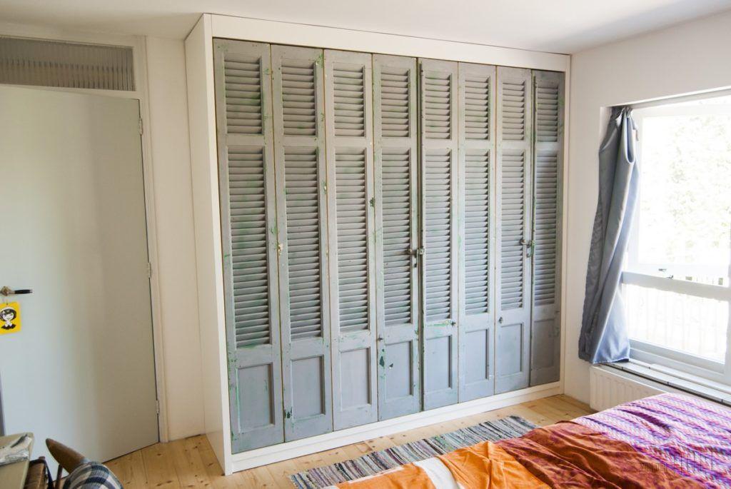 kledingkastmetoudelouvredeuren08  Doors in 2019