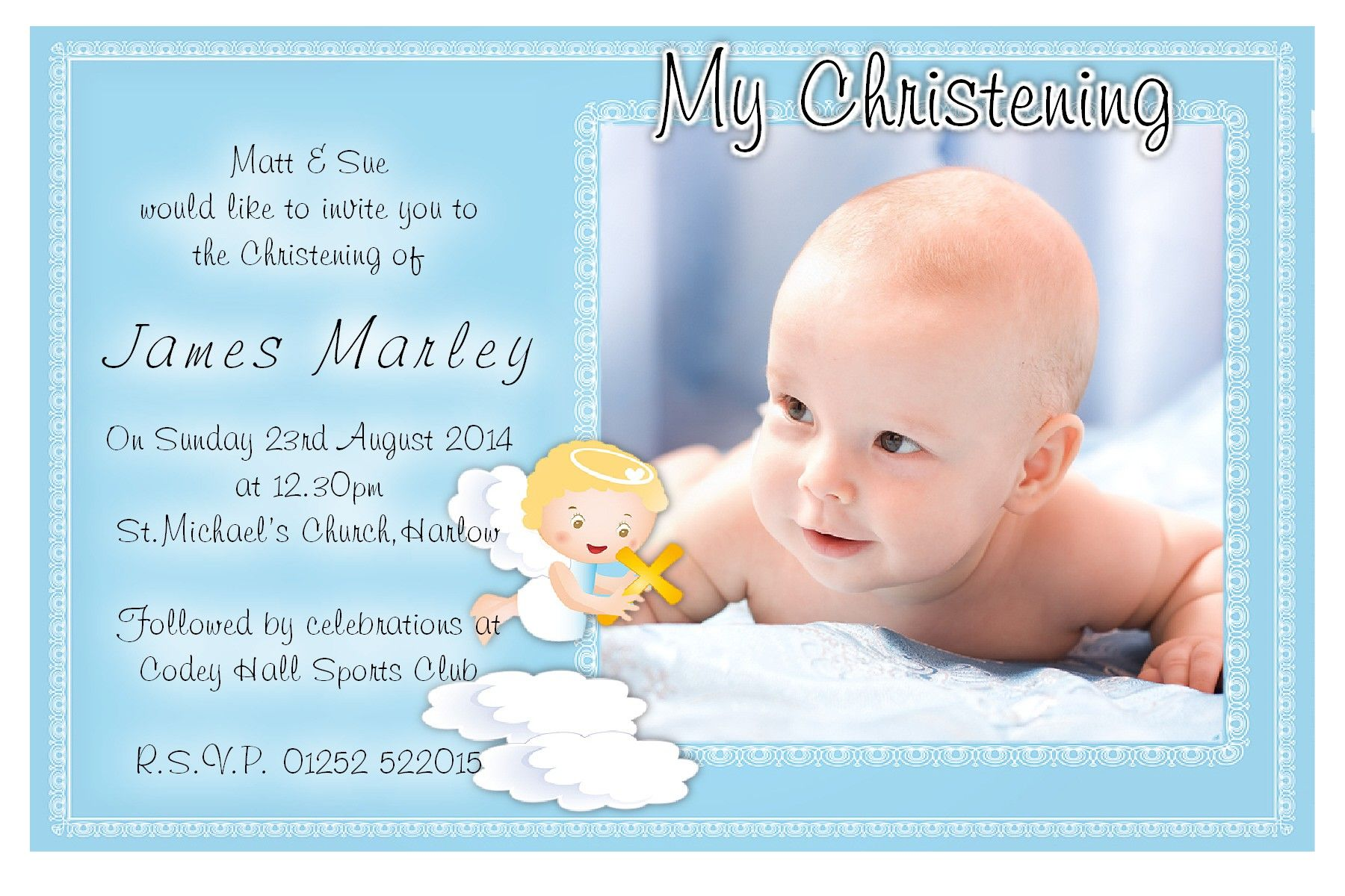 free christening invitation template download | baptism, Birthday invitations