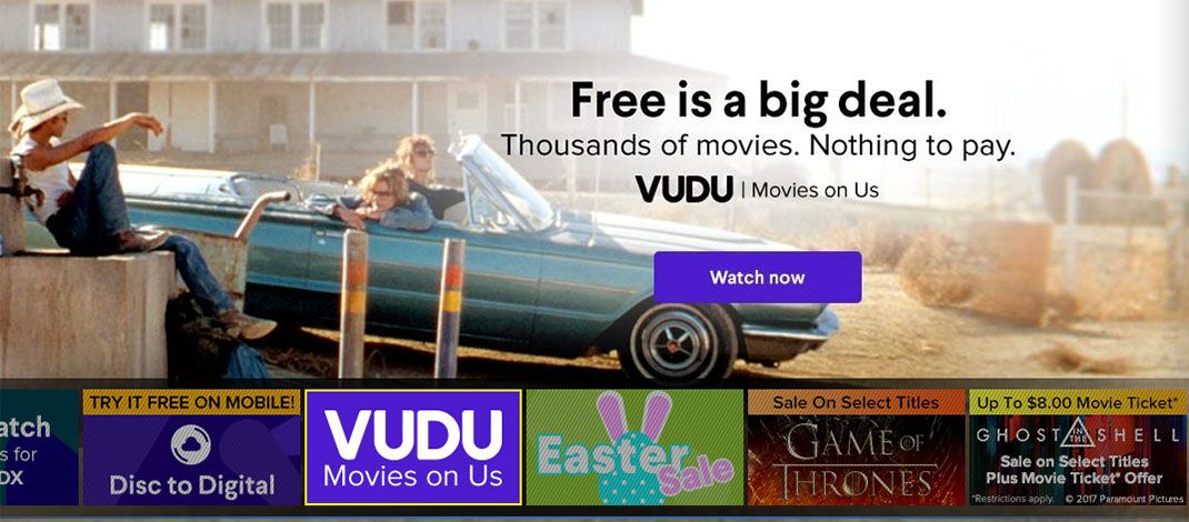 Whats New (& Free) On Vudu Movies On Us For April 2017