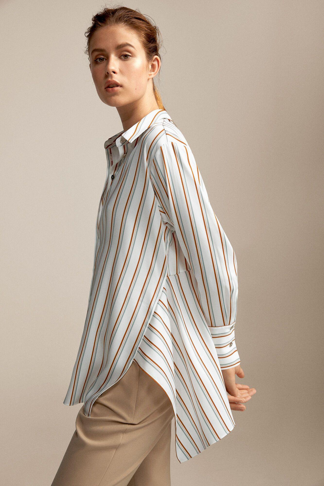 Camisa Oversize En Rayas Blusas Pedro Del Hierro Moda Ropa Online Mujer Blusas