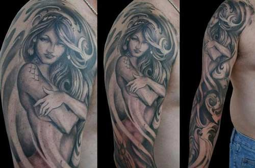 57414af208c08 Tattoos - Paolo Acuna - Realistic Mermaid Tattoo | tattoos | Mermaid ...