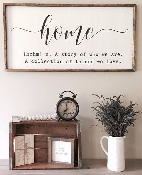 Farmhouse Inspired Home Quote Sign Ad Sign Home Definition Quote