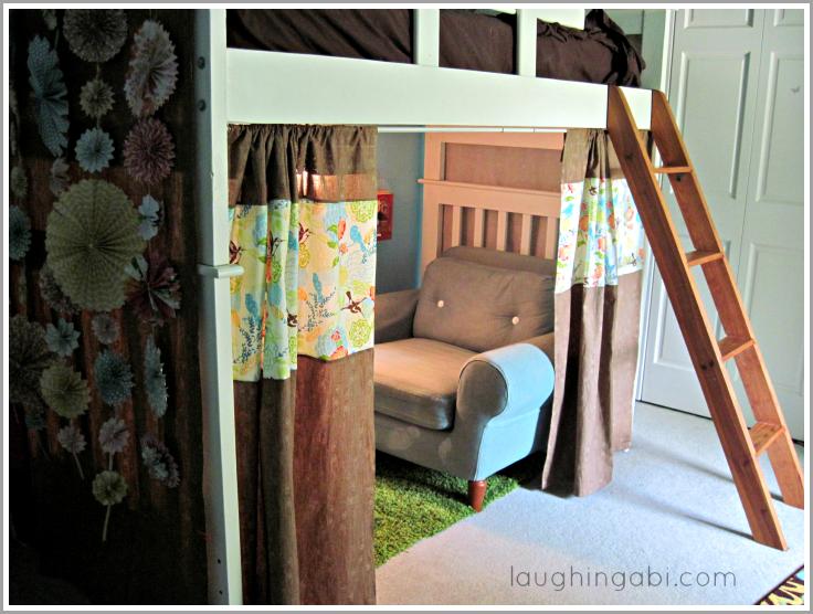 DIY loft bed curtains Toddler girl bedrooms, Loft beds