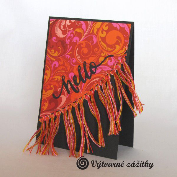 VyZa: Hello.Boho card. Trine fringes.