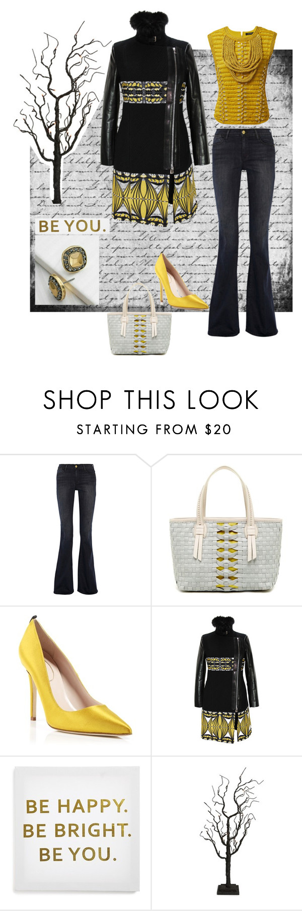 """be you"" by missgiven ❤ liked on Polyvore featuring Balmain, Frame Denim, Cole Haan, SJP, Etro, Ankit and Fantastic Craft"
