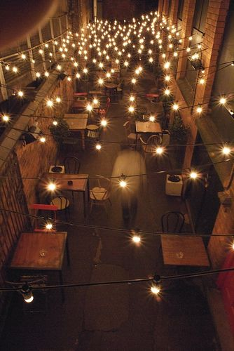 Alley Lights Outdoor Restaurant Patio Outdoor Restaurant Design Cafe Interior Design