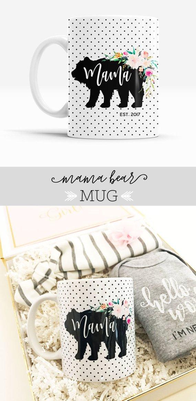 Baby Shower Gift Mama Bear Mug New Mom Mommy To Be Mamma Coffee