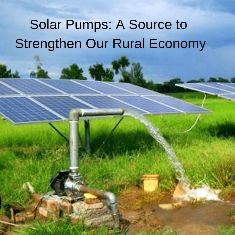 Solar Pumps A Source To Strengthen Our Rural Economy Solar Solar Panels Solar Powered Water Pump