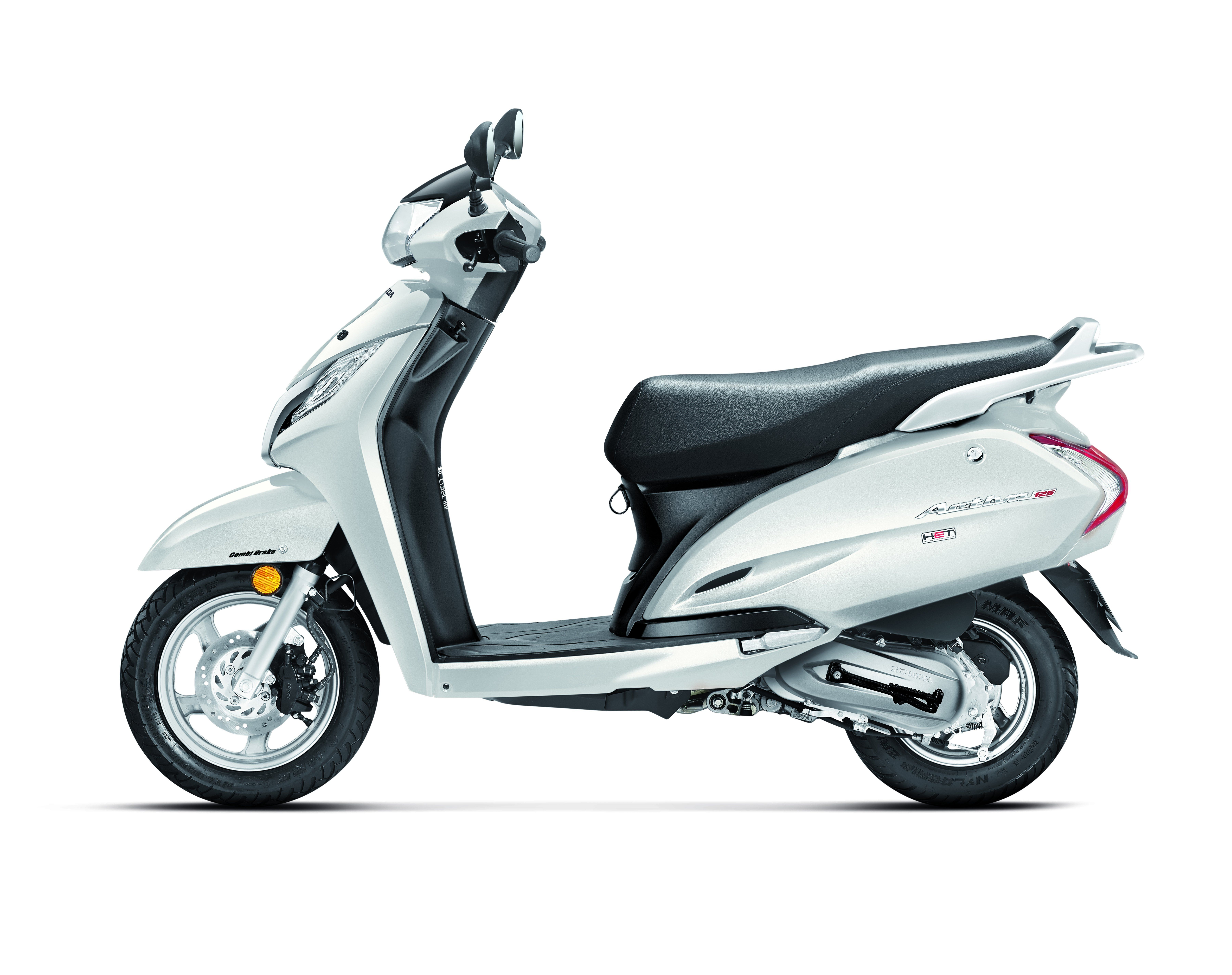 A Glance At The Various Kinds Of Honda Activa White Motorcycle