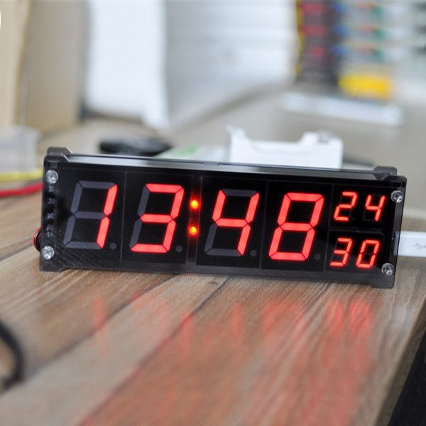 1 2 Inch Led Digital Clock Electronic Alarm Clock With Temperature
