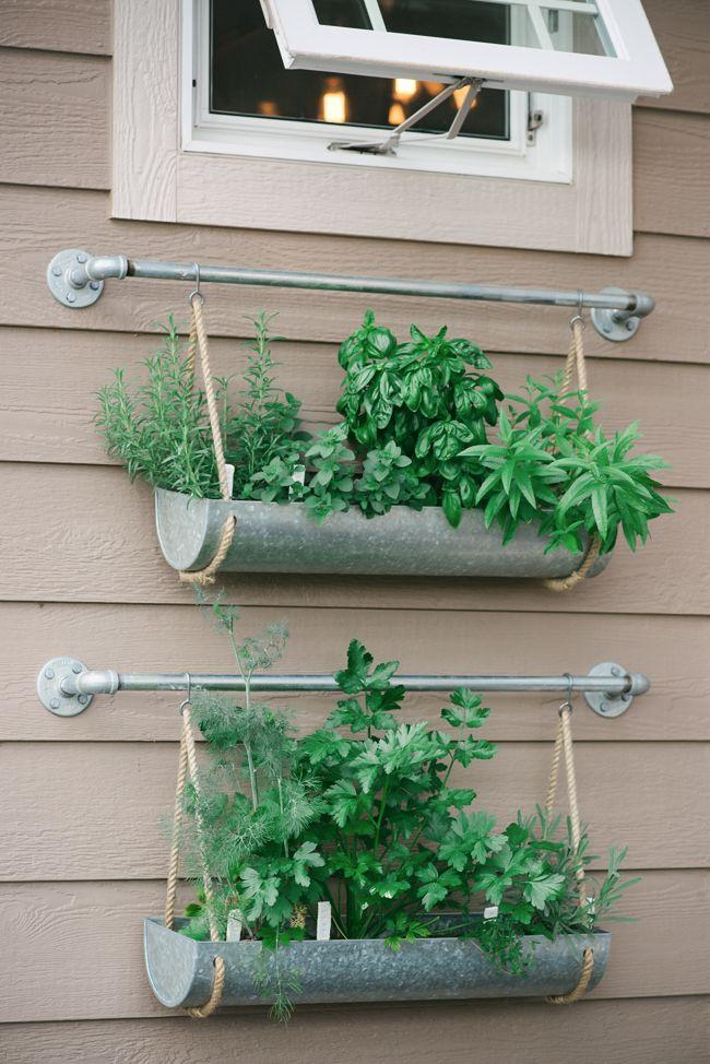 DIY Hanging Herb Garden. Geht Sicherlich Auch Mit Fintorp Von IKEA