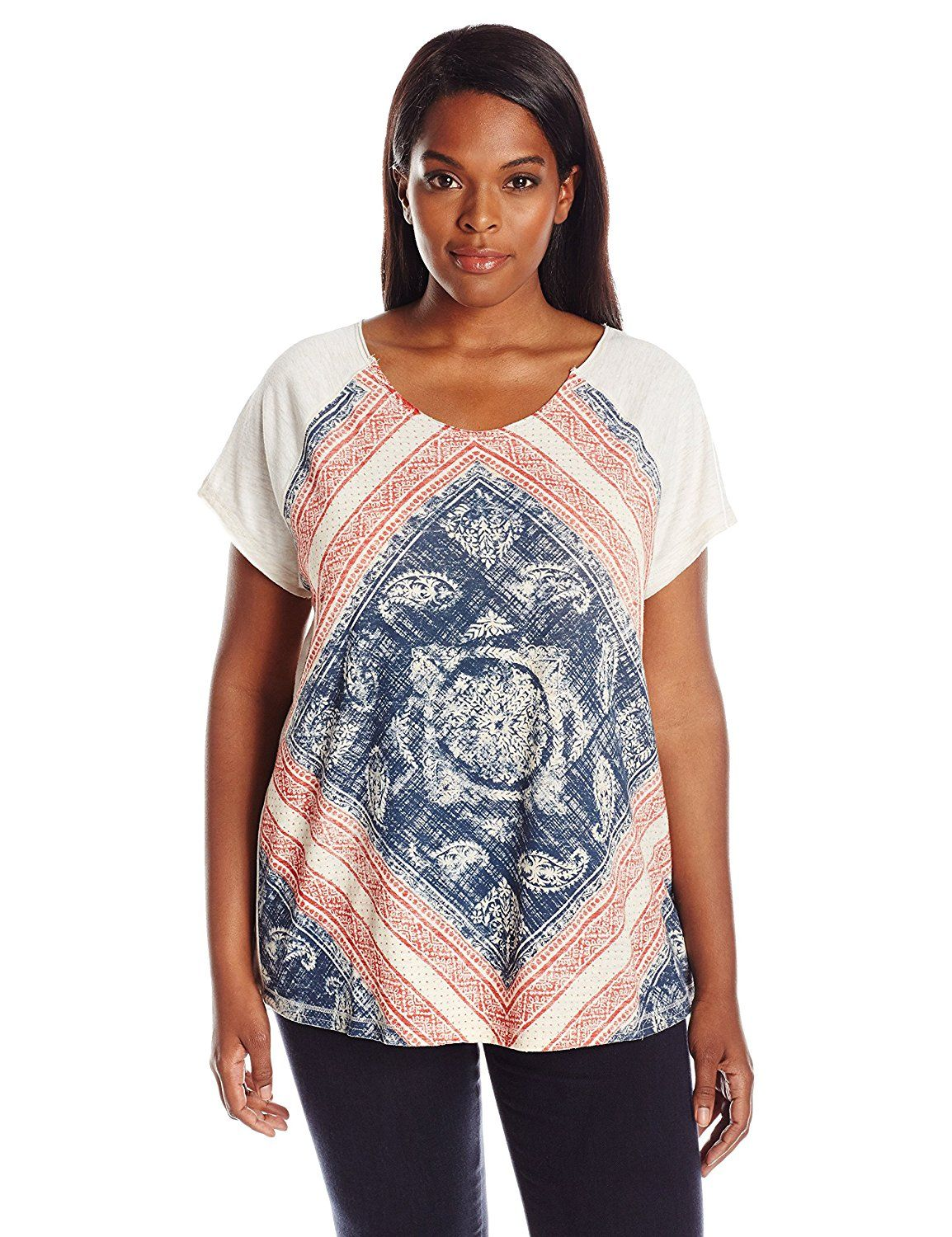 2381af0d Lucky Brand Women's Plus-Size Floral Mandala Tee *** Remarkable product  available now. : Plus size shirts
