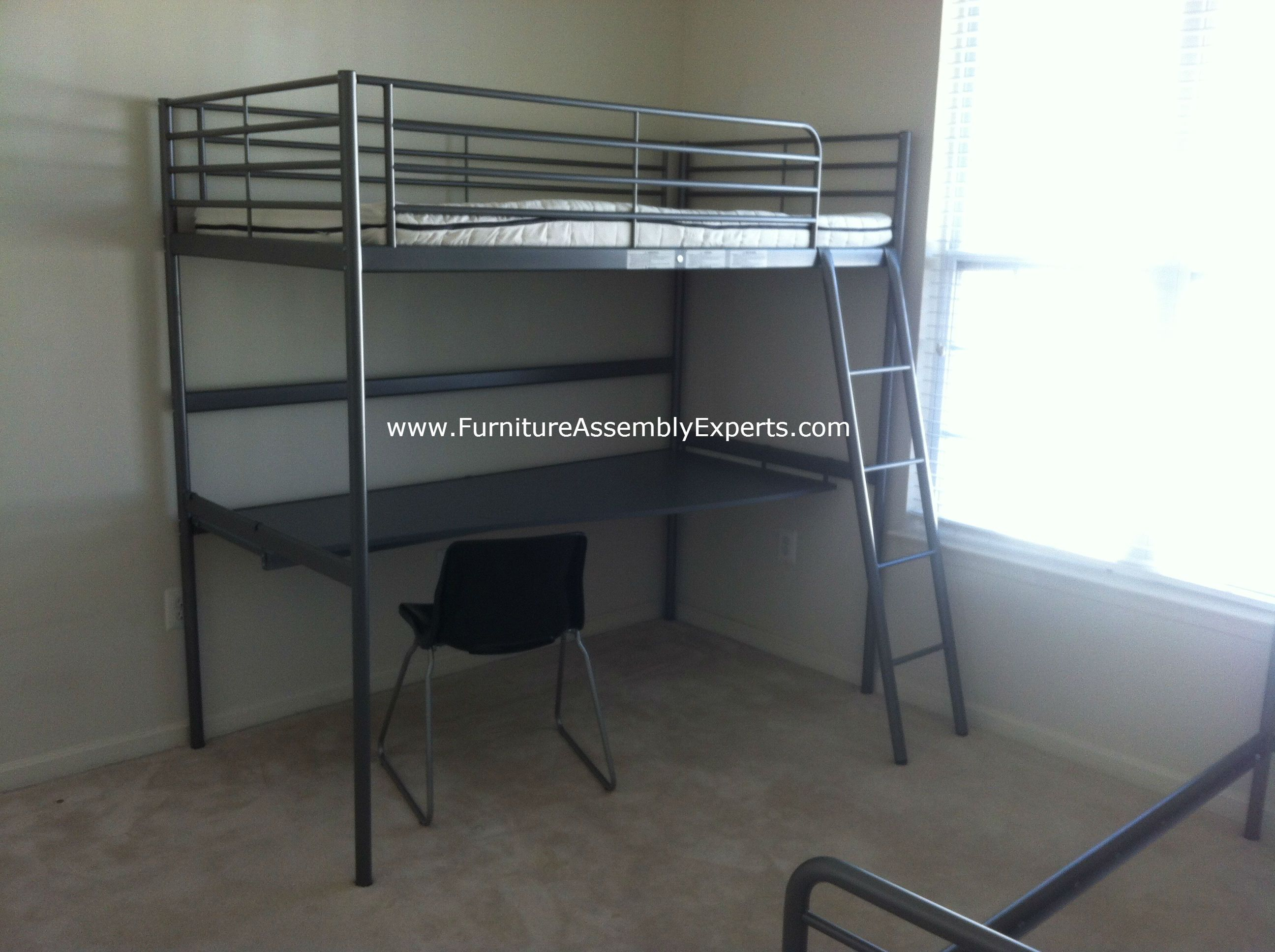 Bunk bed with desk ikea - Ikea Loft Bed With Desk Assembled In Washington Dc By Furniture Assembly Experts Llc Call