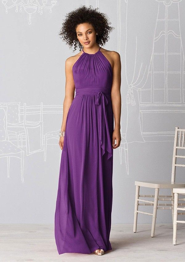 Jewel Neckline Chiffon Bridesmaid Dress | Goolsby wedding ideas: Nov ...