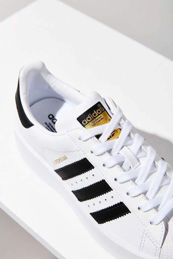 Adidas Originals Superstar Platform Leather Sneakers White